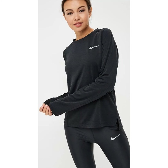 Nike Running   Pacer Crew Neck Long Sleeve Top